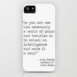 John Keats quote iPhone Case