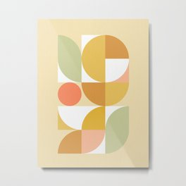 The colours of Summer #geometric #pattern Metal Print