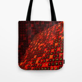 Bits pattern Tote Bag