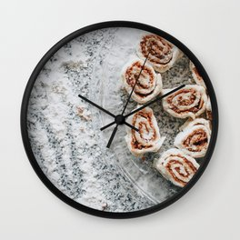 Cinnamon Rolls Wall Clock