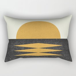 Sunset Geometric Midcentury style Rectangular Pillow