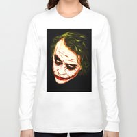 the joker Long Sleeve T-shirts featuring Joker by William Cuccio aka WCSmack