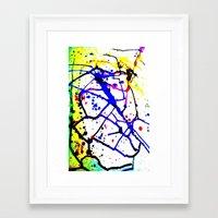 splatter Framed Art Prints featuring Splatter by TheAbstractGirl_Jess