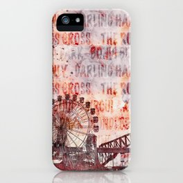 Sydney Luna Park Mixed Media Art iPhone Case