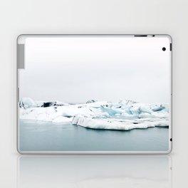 Beautiful glacier lagoon winter Laptop & iPad Skin