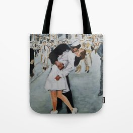 VJ Day Kiss Tote Bag