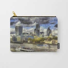 The River Thames And City Art Carry-All Pouch