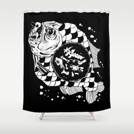 Hunger the Sea Shower Curtain