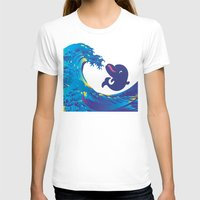 hokusai T-shirts featuring Hokusai Rainbow & Babydolphin by FACTORIE