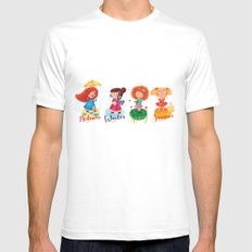 Seasons SMALL White Mens Fitted Tee