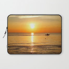 Yellow Sunset Ocean Laptop Sleeve