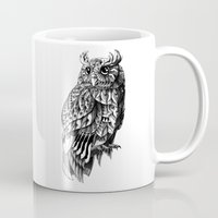 bioworkz Mugs featuring Owl 2.0 by BIOWORKZ