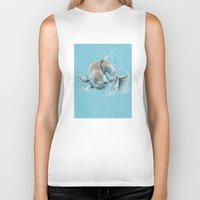 koi fish Biker Tanks featuring Koi Fish by Daydreamer