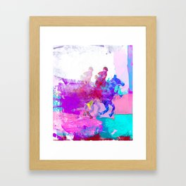 poloplayer abstract redblue Framed Art Print
