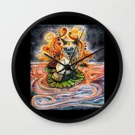 Lily Kitsune Wall Clock