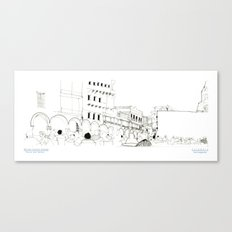Croquis Torre del Reloj Canvas Print