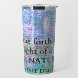 Nature Tree Quote Wordsworth Travel Mug