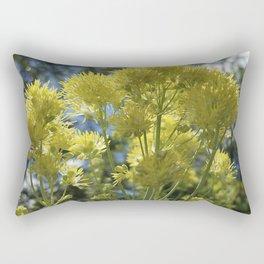Glowing yellow meadow-rue, Thalictrum flavum Rectangular Pillow