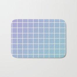 Lavender acqua minimalist grid pattern Bath Mat