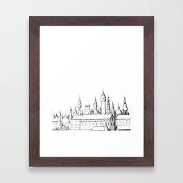 fabulous city . art . black and white Framed Art Print