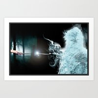 My Patronus is a Wookiee (no text) Art Print