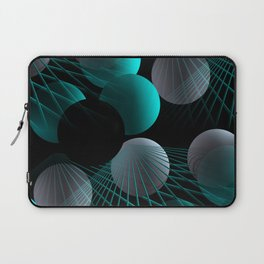 crazy lines and balls -5- Laptop Sleeve