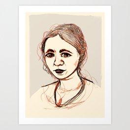 Loose sketch Art Print