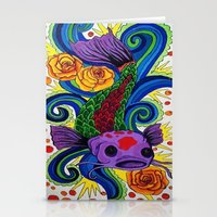 koi fish Stationery Cards featuring Koi Fish by Laurkinn12