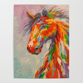 colorul horse Poster