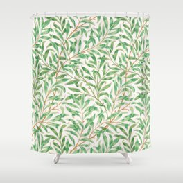 Green Morris Leaves Shower Curtain