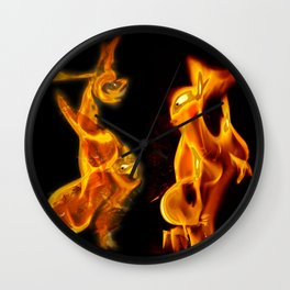 Flames of Love Wall Clock