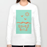crab Long Sleeve T-shirts featuring crab by gzm_guvenc