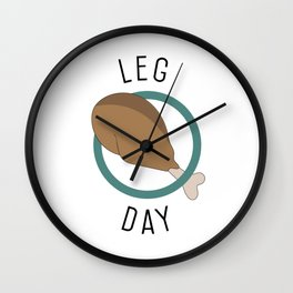 Leg Day Wall Clock