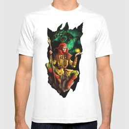 A wizard in the dark T-shirt