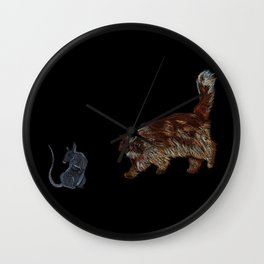 Crookshanks and Scabbers Wall Clock