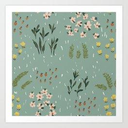Little Fields Art Print