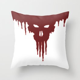 Dissolved Blood Skull Throw Pillow