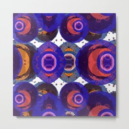 Moroccan Marble Eyes of the Universe. Metal Print