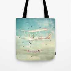 Never Stop Exploring III - THE SKY Tote Bag