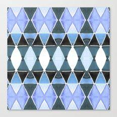 Art Deco Triangles Light Blue Canvas Print