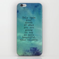 The Beauty of Silence - Blue iPhone & iPod Skin