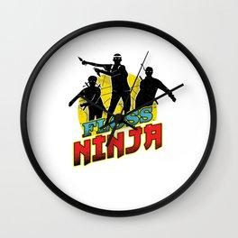 floss ninja Wall Clock