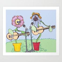 Woodstock Garden Art Print