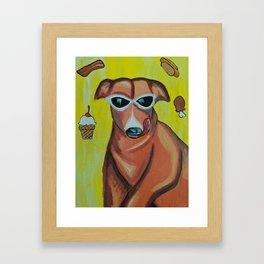 Dreamy dog Framed Art Print