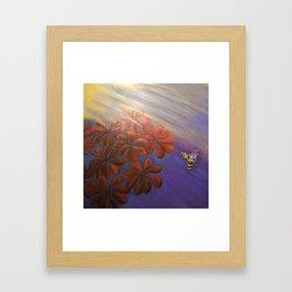 Geranium Bee Framed Art Print