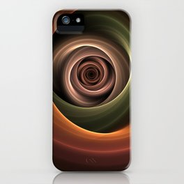 Fractal Depth And Warmth iPhone Case