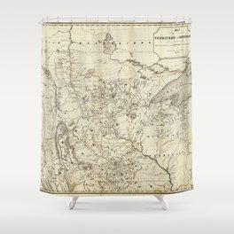 Territory of Minnesota Map (1849) Shower Curtain