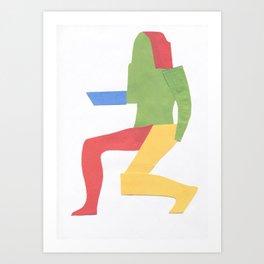 Nude female model. Sketch 1. Art Print