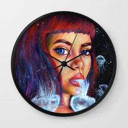 Sketch Jellyfish Wall Clock