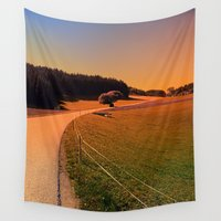 hiking Wall Tapestries featuring Hiking trip in summer time | landscape photography by Patrick Jobst